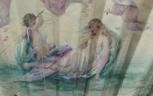 Vénus sur l'onde, par Marie Dumas, vers 1900